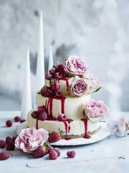 Γαμήλια τούρτα cheesecake.