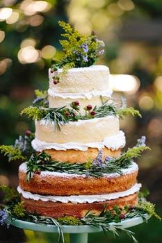 Bohemian τούρτα γάμου.